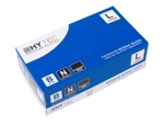 Hytec Blue Nitrile Powder Free Disposable Gloves