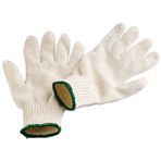 Unbleached Polycotton Knitted Gloves Mens