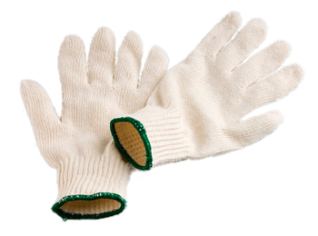 Unbleached Polycotton Knitted Gloves Ladies