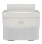 White Table Top Hand Towel Dispenser