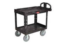 Heavy Duty 2 Shelf Utility Cart