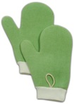 Microfibre All Purpose Mitt with Thumb Green